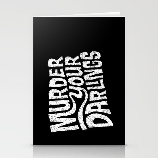 Murder Your Darlings Stationery Card