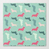 Woof, Woof... Bark, Bark… Canvas Print