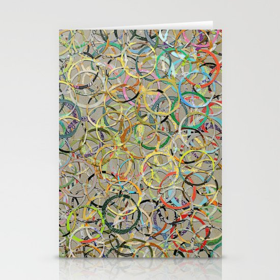 Rainbow Circles Collage Stationery Card