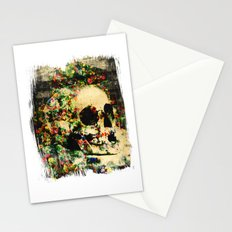 floral skully 2 Stationery Cards