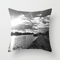 canal life... Throw Pillow