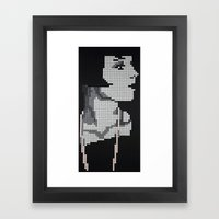 Louise with Pearls Framed Art Print