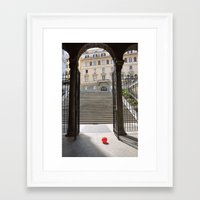 Red Ballon Framed Art Print