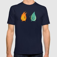 Impossible Love (fire and water kiss) Mens Fitted Tee Navy SMALL
