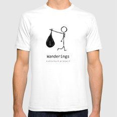WANDERINGS by ISHISHA PROJECT Mens Fitted Tee White SMALL