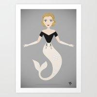 Mermaid Grace Kelly Art Print