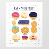 Art Print featuring Donut Identification by Smalltalkstudio