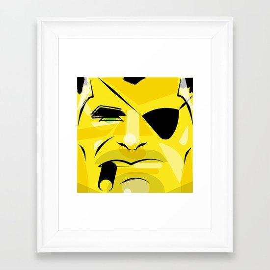 Post it portrait: Nick Fury     Framed Art Print