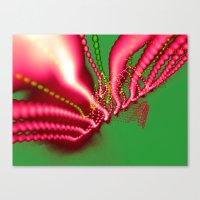 Pink N Green Canvas Print