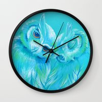 Lovey Owls Wall Clock