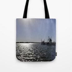 reflections at the pier Tote Bag