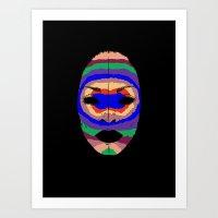 Badu Mask Art Print