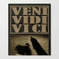 VENI VIDI VICI   (I) Canvas Print