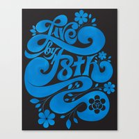 Live By F8th Script Blac… Canvas Print