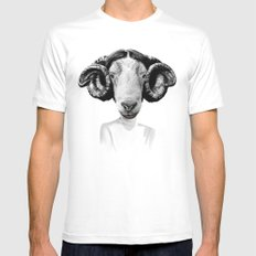 LEIA White Mens Fitted Tee SMALL