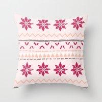 Girly Fairisle Throw Pillow