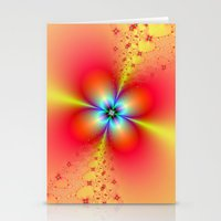 Floral Sprays in Red and Yellow Stationery Cards