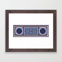 Lacy Print with Medallions Framed Art Print