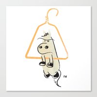 Hung Like A Horse Canvas Print