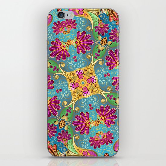 colorful flower pattern iPhone & iPod Skin