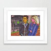Jamie And Alison Framed Art Print