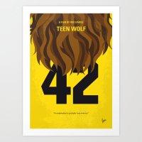 No607 My Teen Wolf Minim… Art Print