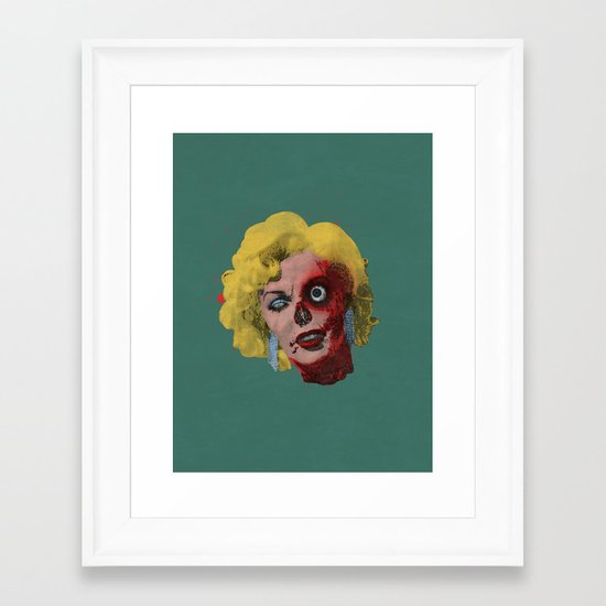 Gentlemen Prefer Zombz Framed Art Print