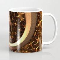Golden Spirals Mug