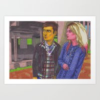 Jamie And Alison Art Print