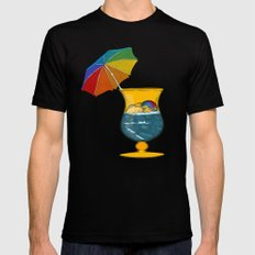 Surf's Up Mens Fitted Tee Black SMALL
