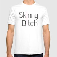 Skinny Bitch Mens Fitted Tee White SMALL