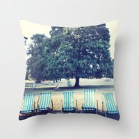 Hyde Park Chairs Throw Pillow