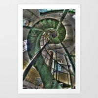 Round stairs Art Print