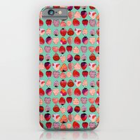 iPhone & iPod Case featuring Strawberry Pattern by Jennifer Reynolds