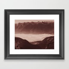 Morning in the mountains Framed Art Print