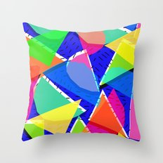 80s shapes Throw Pillow