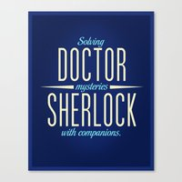 Doctor & Sherlock Canvas Print