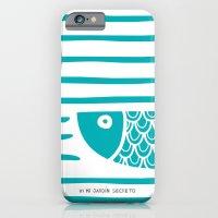 iPhone & iPod Case featuring PIXE 2 (light blue) by Mi Jardín Secreto