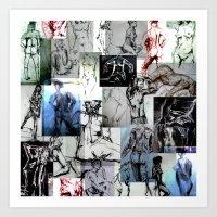 Figure Gestures Art Print