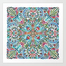 The middle of the Earth mandala Art Print