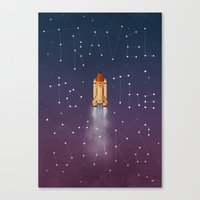 Travel To The Stars Canvas Print