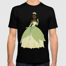 Tiana from Princess and the Frog Mens Fitted Tee SMALL Black