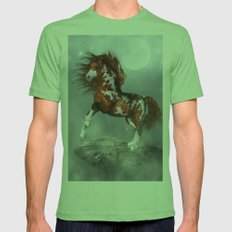 Native Horse Mens Fitted Tee Grass SMALL