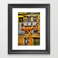 What's Going On Down The… Framed Art Print