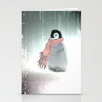 LITTLE PENGUIN WITH SCARF  Stationery Cards