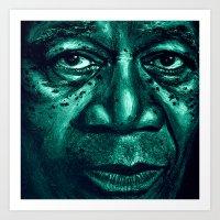 freeman in green Art Print