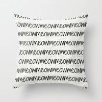 Meowmeowmeow Throw Pillow