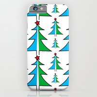 iPhone & iPod Case featuring Christmas Tree Pattern by LesrubaDesigns