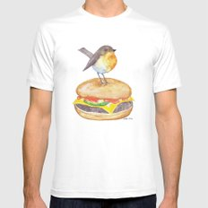 Chubadee on a Cheeseburger Mens Fitted Tee White SMALL