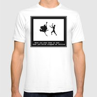 Mad At Ostrich Mens Fitted Tee White SMALL